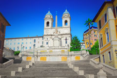 The Spanish Steps. In Rome Royalty Free Stock Photos