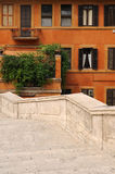 Spanish steps in Rome. Detail view of famous Spanish Steps in Rome, Italy Royalty Free Stock Image