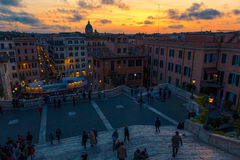 Spanish steps in Rome Stock Photography