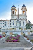 The Spanish Steps in Rome, Italy. The Spanish Steps in Rome. Italy Royalty Free Stock Images