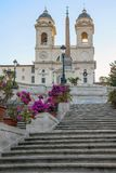 The Spanish Steps in Rome, Italy. The Spanish Steps in Rome. Italy Stock Image