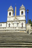 The Spanish Steps in Rome Italy. The Spanish Steps in Rome Stock Photo