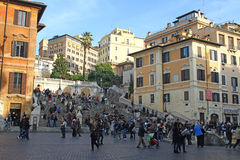 The Spanish Steps in Rome Royalty Free Stock Photography