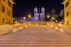 Spanish steps in Rome Italy. Architecture background Stock Photos