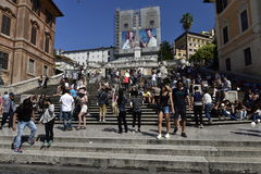 Spanish Steps, Rome, Italy. The famous Spanish Steps in Rome, Italy Stock Photo