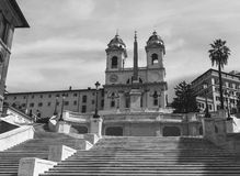 The Spanish steps in Rome, Italy. The famous Spanish steps in Rome with no tourists, Italy. Circa 2016 Stock Photography