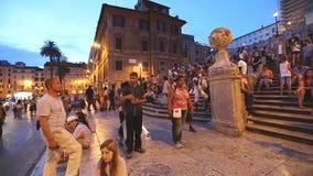 Spanish Steps Rome stock footage
