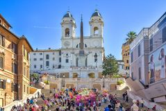 The Spanish Steps in Rome, Italy. royalty free stock image