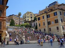 Spanish Steps, Rome, Italy. Spanish Steps, Piazza di Spagna, Rome, Italy Stock Photography