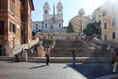 Spanish Steps Rome Italy Stock Image