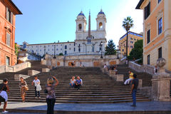 Spanish Steps Rome Italy Stock Images