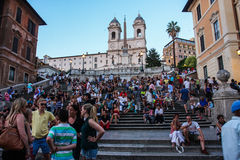 The Spanish Steps Rome Italy Royalty Free Stock Images