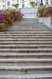The Spanish Steps in Rome, Italy. royalty free stock photos
