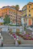 The Spanish Steps in Rome, Italy. The Spanish Steps in Rome. Italy Royalty Free Stock Photography
