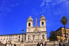 Spanish Steps in Rome, Italy.  Royalty Free Stock Image
