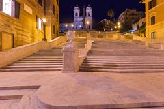 Spanish steps in Rome Italy Stock Images