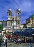 Spanish Steps, Rome. Spanish Steps with people in Rome Royalty Free Stock Photo