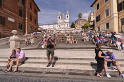 Spanish Steps - Rome. The Spanish Steps in Rome, Piazza di Spagna (Spanish Square Royalty Free Stock Image