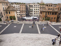Spanish Steps. Rome. Spanish Steps plaza in Rome, italy Royalty Free Stock Photos