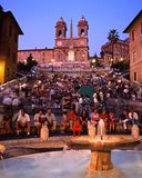 The Spanish Steps, Rome. Royalty Free Stock Images