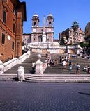 The Spanish Steps, Rome. Tourists sitting on the Spanish Steps, Rome, Italy, Europe Stock Photos