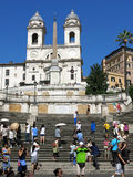 Spanish Steps, Rome. The Spanish Steps and Trinità dei Monti Church in Rome in mid-summer Stock Photo