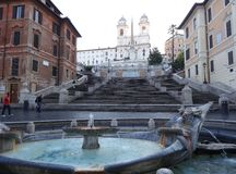 The Spanish Steps, Rome Royalty Free Stock Photo