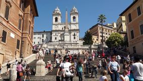 The Spanish Steps in Rome (2 of 2). Views from around the ancient Italian city of Rome stock video