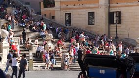 The Spanish Steps in Rome (1 of 2). Views from around the ancient Italian city of Rome stock footage