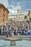 The Spanish Steps, seen from Piazza Stock Image