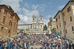 The Spanish Steps, seen from Piazza di Spagna Royalty Free Stock Photo