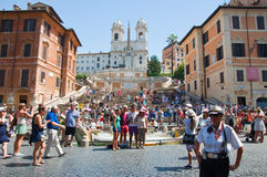 The Spanish Steps, seen from Piazza di Spagna on August 6, 2013 in Rome, Italy. Royalty Free Stock Photography