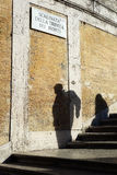 Spanish Steps Shadows Rome Italy Royalty Free Stock Photo