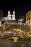 The Spanish Steps and Trinità dei Monti. The Spanish Steps (Italian: Scalinata della Trinità dei Monti) are a set of steps in Rome. At the top of the royalty free stock photo