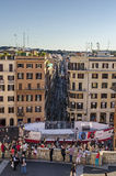 Spanish steps view stock photography