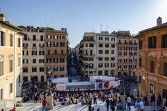 Spanish steps view Royalty Free Stock Image