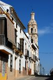 Spanish street, Aguilar de la Frontera. Royalty Free Stock Photo