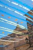 Spanish Street Bunting (3) Royalty Free Stock Image