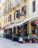 Spanish Street Cafe in Malaga Stock Image