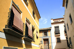Spanish street in Polop Stock Photography