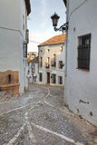 Spanish street in Ronda Stock Photos