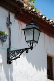 Spanish streetlight, Granada. Royalty Free Stock Images