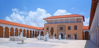 Spanish style architecture. Of  Rally art museum in Caesarea Royalty Free Stock Photos