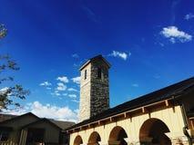 Spanish style building against a blue sky Stock Photo