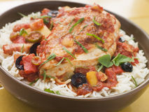 Spanish-Style Chicken and Rice Royalty Free Stock Photography