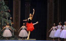 The Spanish style girl- The second act second field candy Kingdom -The Ballet  Nutcracker Stock Images