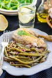 Spanish style green beans with ham Stock Photography