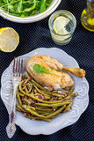 Spanish style green beans with ham Stock Images