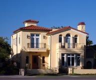 Spanish style house. Spanish style southwestern house in yellow tone royalty free stock photo