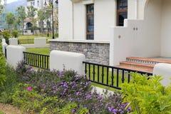 Spanish-style house backyard. Backyard of the new spanish-style house, zhangzhou city, china Stock Photography